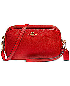 COACH Boxed Crossbody Clutch in Pebble Leather