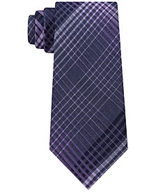 Men's Degrade Plaid Slim Tie