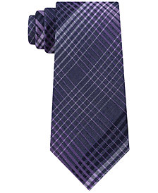 Calvin Klein Men's Degrade Plaid Slim Tie