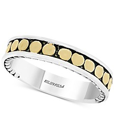 EFFY® Two-Tone Band in Sterling Silver & 18k gold-plated sterling silver