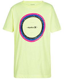 Hurley Big Boys Circle Distress Graphic Cotton T-Shirt