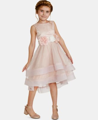 Big Girls Floral-Trim Dress