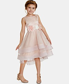 Toddler Girls Floral-Trim Dress