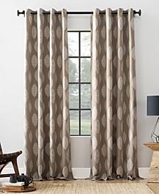 """Herringbone Leaf 52"""" x 95"""" Curtain"""