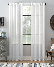 Slub Textured Linen Blend Grommet Top Curtain Collection