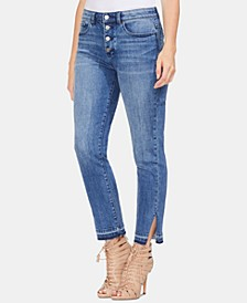 Button-Fly High-Rise Jeans