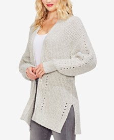 Vince Camuto Pointelle Cardigan Sweater