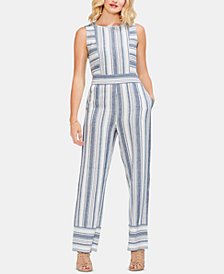 Vince Camuto Beach Striped Linen Jumpsuit