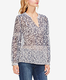Vince Camuto Tranquil Petals Peasant Blouse