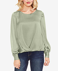 Vince Camuto Gathered Bishop-Sleeve Top