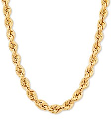 "Tube Rope 24"" Chain Necklace in 10k Gold"