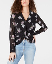 Heartloom Printed Twist-Front Top