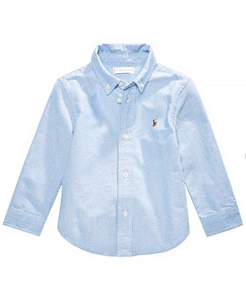 98b34b9c5 Polo Ralph Lauren Ralph Lauren Baby Boys Solid Oxford Shirt ...