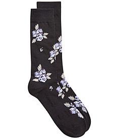 Bar III Men's Floral Socks, Created for Macy's