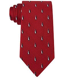 Tommy Hilfiger Men's Holiday Penguin Slim Silk Tie