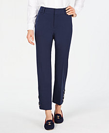 Charter Club Grommet-Cuff Straight-Leg Pants, Created for Macy's