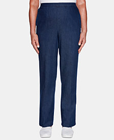 Alfred Dunner Greenwich Hills Proportioned Pull-On Pants