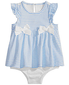 First Impressions Baby Girls Striped Skirted Romper, Created for Macy's