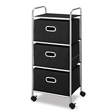 Whitmor 3 Drawer Rolling Cart