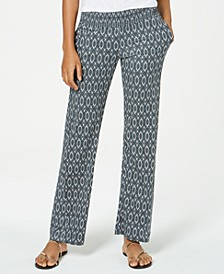 Juniors' Printed Flare-Leg Soft Pants