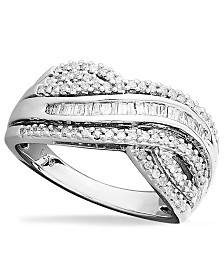 Diamond Bypass Ring in Sterling Silver (1/2 ct. t.w.)