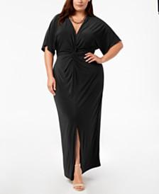 Love Squared Trendy Plus Size Twist-Front Maxi Dress