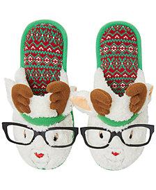 Dearfoams Festive Closed-Toe Scuff Slippers