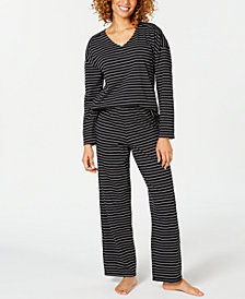 Charter Club Cotton Long-Sleeve Dolman Top and Pajama Pants Set, Created for Macy's
