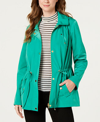 Water Resistant Hooded Anorak Jacket, Created For Macy's by Charter Club