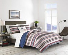 Eddie Bauer Brewster Stripe Navy King Duvet Cover Set