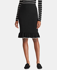 Lauren Ralph Lauren Rib-Knit Skirt