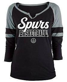 Women's San Antonio Spurs Slub Foil Raglan T-Shirt