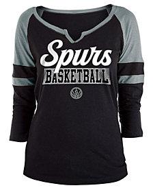 5th & Ocean Women's San Antonio Spurs Slub Foil Raglan T-Shirt