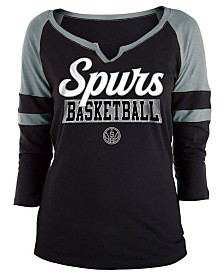 5th & Ocean Women's San Antonio Spurs Slub Foil Raglan T-Shirt