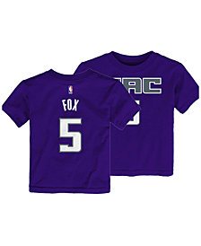Outerstuff DeAaron Fox Sacramento Kings Replica Name and Number T-Shirt, Toddler Boys (2T-4T)