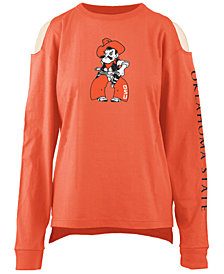 Pressbox Women's Oklahoma State Cowboys Cold Shoulder Long Sleeve T-Shirt