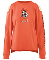05e296ade Pressbox Women's Oklahoma State Cowboys Cold Shoulder Long Sleeve T-Shirt