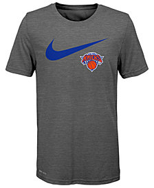 Nike New York Knicks Swoosh Team T-Shirt 2018, Big Boys (8-20)