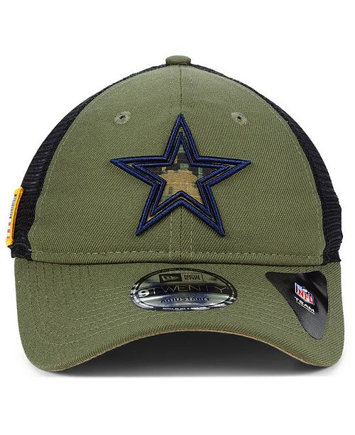 833bd7185ce ... New Era Dallas Cowboys NFL Camo Service Patch 9TWENTY Trucker Cap ...