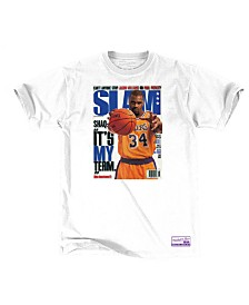 Mitchell & Ness Men's Shaquille O'Neal Los Angeles Lakers Slam Cover T-Shirt