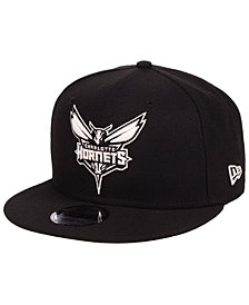 New Era Charlotte Hornets Black White 9FIFTY Snapback Cap