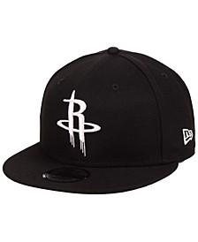 Houston Rockets Black White 9FIFTY Snapback Cap
