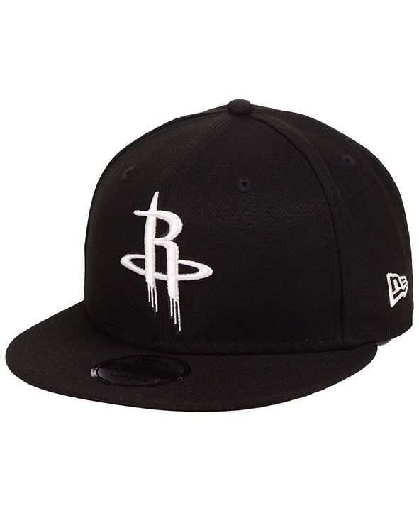 New Era Houston Rockets Black White 9FIFTY Snapback Cap