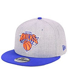 New York Knicks Heather Gray 9FIFTY Snapback Cap