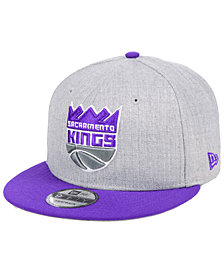 New Era Sacramento Kings Heather Gray 9FIFTY Snapback Cap