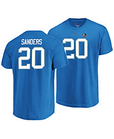 Majestic Men's Barry Sanders Detroit Lions Hall of Fame Eligible Receiver Triple Peak T-Shirt