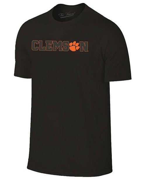 Champion Men's Clemson Tigers Black Out Dual Blend T-Shirt