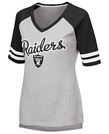 G-III Sports Women's Oakland Raiders Goal Line Raglan T-Shirt