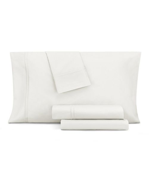 AQ Textiles  CLOSEOUT! Double Merrow Embellished 4-Pc Queen Sheet Set, 700 Thread Count Cotton Blend