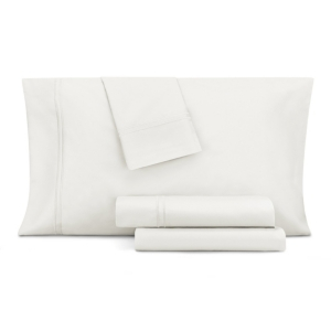 Image of Aq Textiles Double Merrow Embellished 4-Pc Queen Sheet Set, 700 Thread Count Cotton Blend Bedding